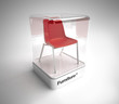 Design red chair showcase