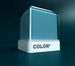 Pale blue color block