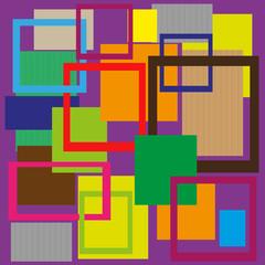 astratto vettoriale con cornici su sfondo viola