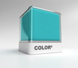 Turquoise blue color block