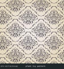 eps Vector image:vintage. plant Ivy pattern