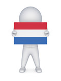 3d small person with dutch flag.