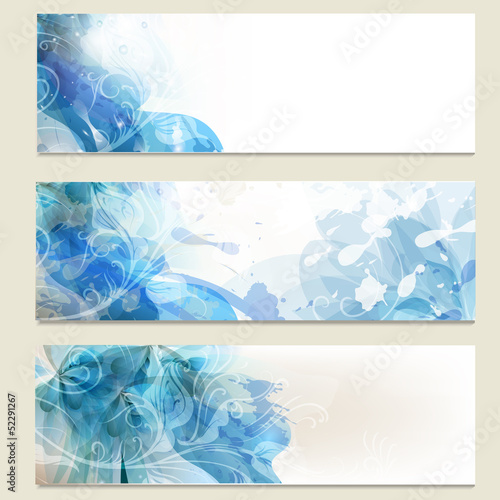 Abstract blue  business vector cards set for design