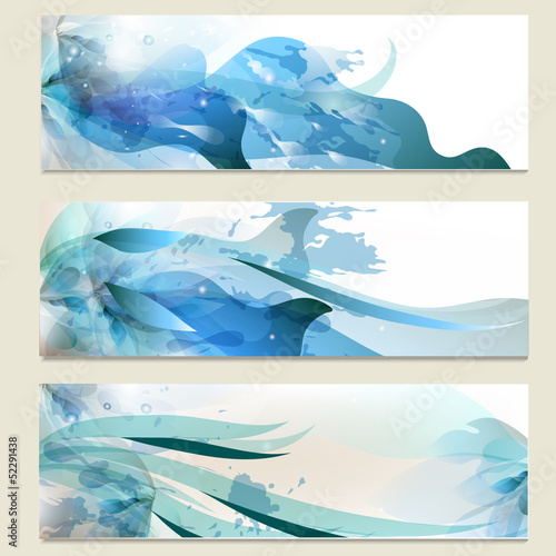 Abstract business vector cards set for design