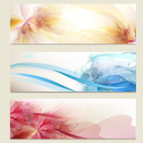 Abstract colorful vector backgrounds set