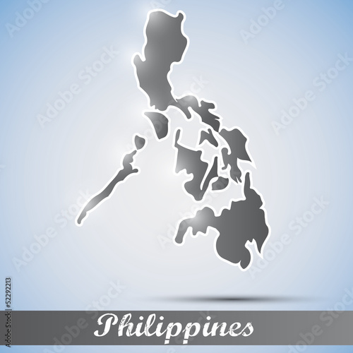 shiny icon in form of Philippines