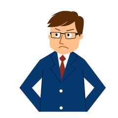 ビジネスマン表情-怒り