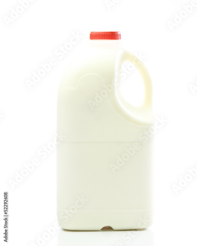 bottle of fresh milk isolated against white background