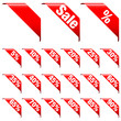 "Banner Set ""Sale"" Red"