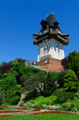 Clock Tower (Uhrturm) in Schlossberg, Graz, Austria