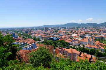 The Historic center of Graz in Austria