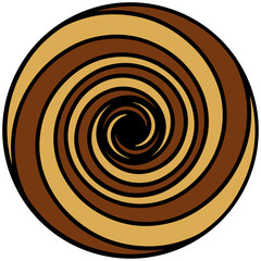 Coffee Colour Spiral ( Spirale Kaffeefarben )