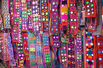 Ethnic belts with mirrors