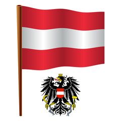 austria wavy flag
