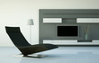 Wohndesign - schwarzer Sessel