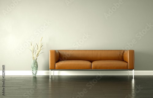 fototapete braunes ledersofa fototapeten aufkleber. Black Bedroom Furniture Sets. Home Design Ideas