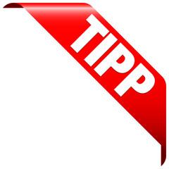 "Banner ""Tipp"" rot"