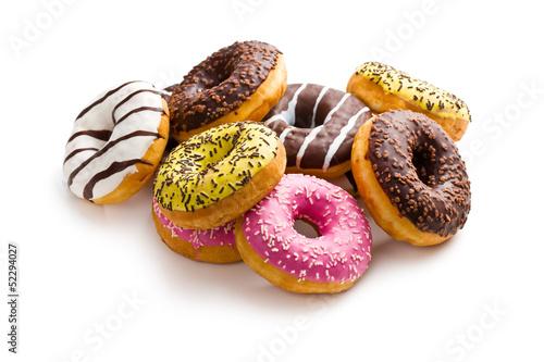 Foto op Aluminium Bakkerij various donuts