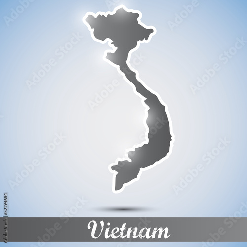 shiny icon in form of Vietnam