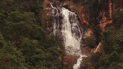 Nuwara Eliya waterfall in Sri Lanka.