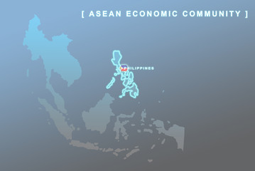 Philippines country that will be member of AEC map