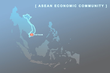 Vietnam country that will be member of AEC map
