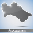 shiny icon in form of Turkmenistan
