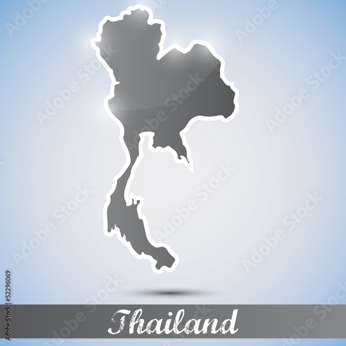shiny icon in form of Thailand