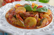 Artichoke and summer squash stew