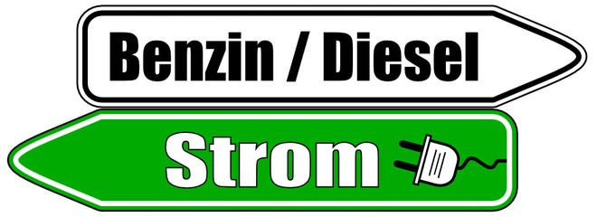 Benzin Diesel Strom Schild  #130513-svg01
