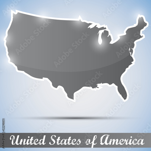 shiny icon in form of USA