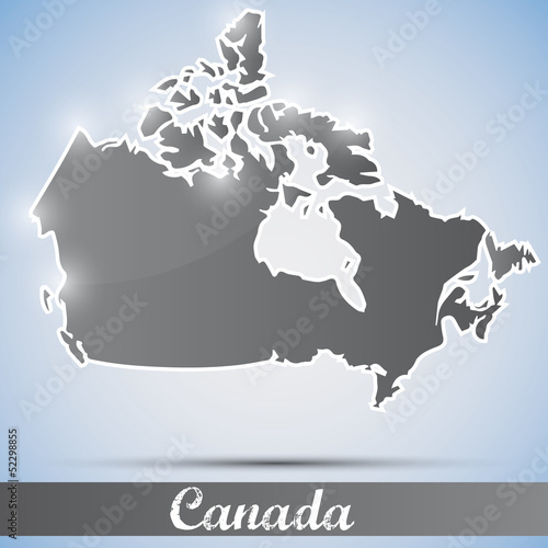 shiny icon in form of Canada