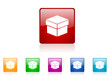 box vector glossy web icon set