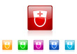 nurse vector glossy web icon set