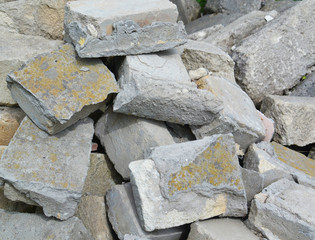 Part of a stone pile