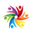 Teamwork swooshes logo