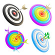 Darts aim composition, set of four, isolated