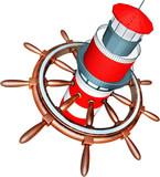leuchtturm steuerrad