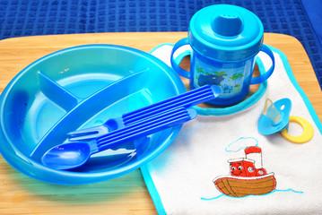 Blue Child Feeding Utensils