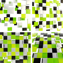Abstract background made of square plates