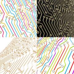 Microcircuit chip dimensional scheme background