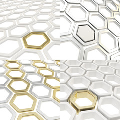 Abstract hexagon cell background