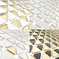 Triangle cell geometrical background
