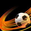 Fußball mit deutschen Nationalfarben - Hintergrund