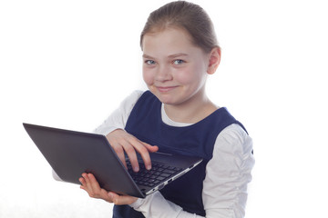 girl with a netbook