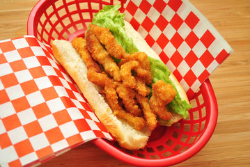 Clam Roll Sandwich for Lunch