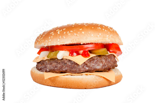 Cheeseburger isolated