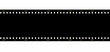 Cinema film strip black blank isolated on white