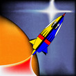 Retro Space Rocket