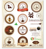 Retro Coffee Labels